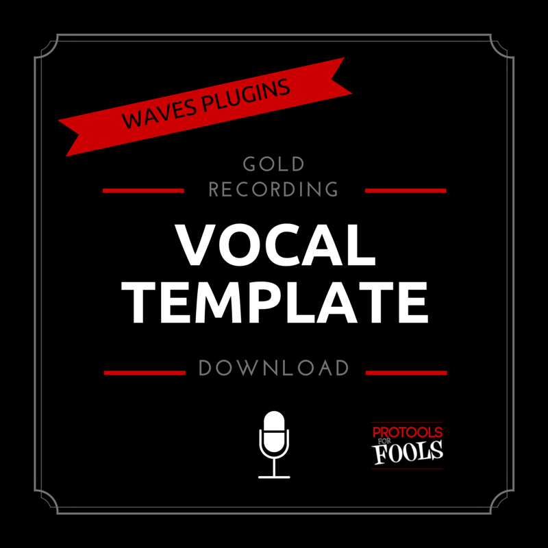 Waves plugins vocal template